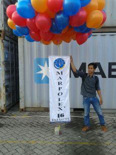 Balon tanda pembukaan marpolex 2016 (dok Pribadi)