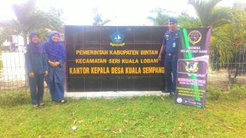 Sosialisasi di kantor kepala desa Kuala sempang (do pribadi)